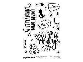 PAPERO AMO - samolepky - EXTRA KIT Srpen 2018 / RELAX