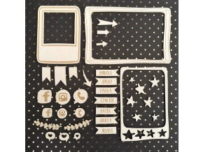 PAPERO AMO - chipboardové výseky - TAHLE CHVÍLE