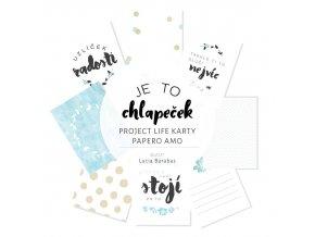 PAPERO AMO - Project Life kartičky - JE TO CHLAPEČEK