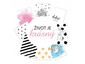 PAPERO AMO - Project Life kartičky - ŽIVOT JE KRÁSNÝ