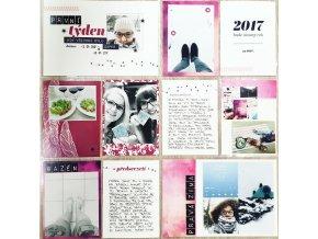 PAPERO AMO - Project Life kartičky - MY LIFE KIT leden / únor 2017