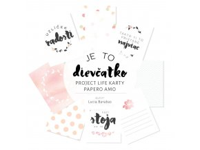 PAPERO AMO - Project Life kartičky - JE TO DIEVČATKO