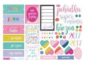 PAPERO AMO - papírové výseky - PAGE KIT březen 2017 / POHÁDKA