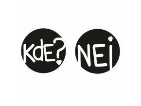 PAPERO AMO - silikonové razítko - KDE a NEJ