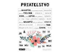PAPERO AMO - samolepky - CARD KIT Apríl / Máj 2017 PRIATEĽSTVO