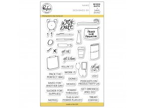 "PINKFRESH STUDIO - Clear Stamp Set 4""X6"" - WORK DATE"