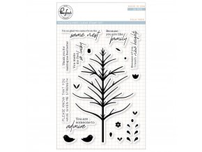 "PINKFRESH STUDIO - Clear Stamp Set 4""X6"" - FOLK TREE"