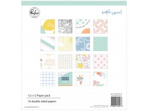 "PINKFRESH STUDIO - Double-Sided Paper Pack 12""X12"" - SIMPLE & SWEET"
