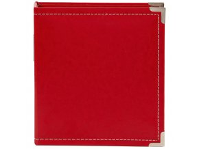 "SCRAPBOOKOVÉ ALBUM 6""X8"" - LEATHER RED / SIMPLE STORIES"