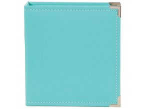 "SCRAPBOOKOVÉ ALBUM 6""X8"" - LEATHER TEAL / SIMPLE STORIES"