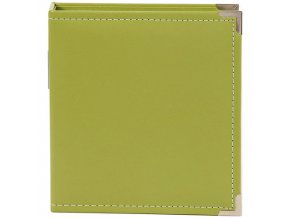 """SIMPLE STORIES - Sn@p! Leather Binder 6""""X8"""" - GREEN"""
