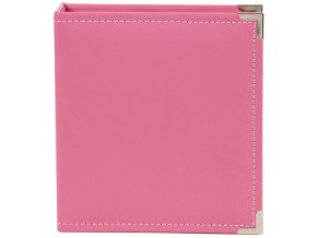 """SIMPLE STORIES - Sn@p! Leather Binder 6""""X8"""" - PINK"""