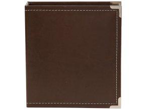 "SIMPLE STORIES - Sn@p! Leather Binder 6""X8"" - BROWN"
