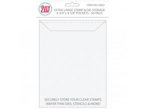 "AVERY ELLE - Stamp & Die STORAGE POCKETS / Extra Large 6.75""X9.25"""