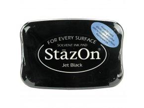PERMANENTNÍ RAZÍTKOVACÍ BARVA Staz-On - Jet Black