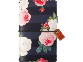 WEBSTER´S PAGES - Color Crush Faux Leather Travelers' Planner - BLACK FLORAL