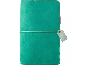 WEBSTER´S PAGES - Color Crush Suede Travelers' Planner - ASPEN GREEN