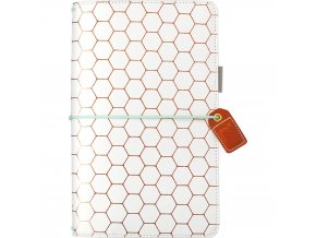 WEBSTER´S PAGES - Color Crush Faux Leather Travelers' Planner - COPPER HEXAGON