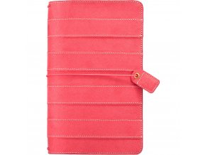 WEBSTER´S PAGES - Color Crush Suede Travelers' Planner - PINK STRIPE