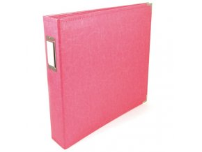 WE R MEMORY KEEPERS - Classic Faux Leather album - STRAWBERRY