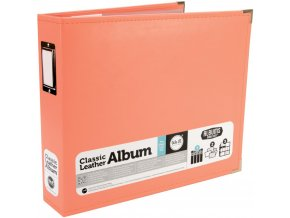 WE R MEMORY KEEPERS - Classic Faux Leather album CORAL