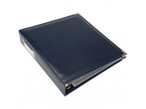"WE R MEMORY KEEPERS - Classic Faux Leather album 8.5""X11"" NAVY"