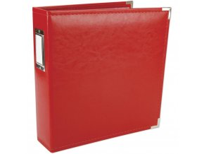 "WE R MEMORY KEEPERS - Classic Faux Leather album 8.5""X11"" REAL RED"