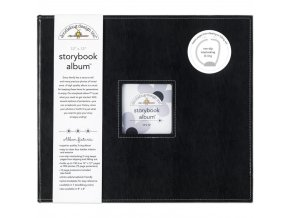 "*** DOODLEBUG - Storybook Album 12""X12"" - BEETLE BLACK"