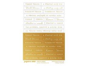 CARDkit vanoce samolepky zlate 1
