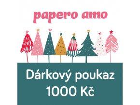 darkovy poukaz vanoce 1000