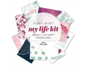 PAPERO AMO - Project Life kartičky - MY LIFE KIT Január / Február 2017