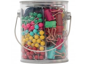 AMERICAN CRAFTS - Office Bucket Accessory Set - BRIGHT
