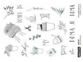 Papírové výseky - NAŠE DNY / Obrázky