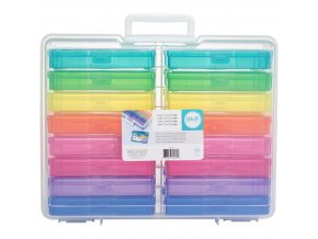 WE R MEMORY KEEPERS - Craft & Photo Translucent Plastic Storage - MINI CASES
