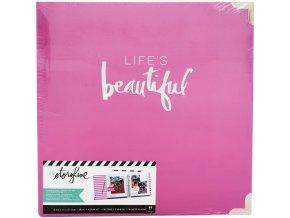 "HEIDI SWAPP - D-Ring Album 8.5""X11"" - Storyline / LIFE IS BEAUTIFUL"