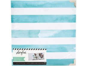 "HEIDI SWAPP - D-Ring Album 8.5""X11"" - Storyline / WATERCOLOR STRIPE"