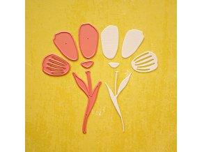 vyrezavaci sablona tulipan 1