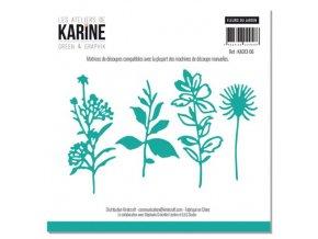 set of 4 dies fleurs du jardin les ateliers de karine