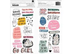 CRATE PAPER - pěnové samolepky - ALL HEART / Phrase & Icons