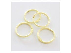 set 4 anillas 1 2 5 cm amarillo pastel