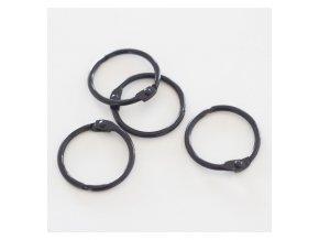 set 4 anillas 1 2 5 cm negras