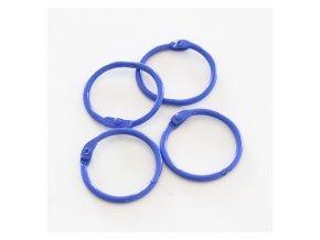 set 4 anillas 1 5 4 cm azul indigo