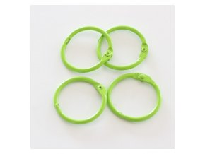 set 4 anillas 1 5 4 cm verde lima