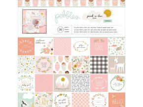 "Sada scrapbook papírů 12""X12""- PEEK-A-BOO YOU / GIRL"