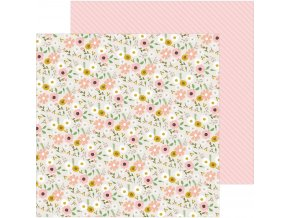 SCRAPBOOKOVÝ PAPÍR Peek-a-boo you / Girl - WOODLAND FLORAL