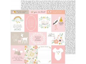 SCRAPBOOKOVÝ PAPÍR Peek-a-boo you / Girl - FOLLOW YOUR DREAMS