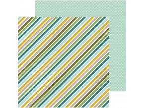SCRAPBOOKOVÝ PAPÍR Peek-a-boo you / Boy - JUNGLE STRIPES