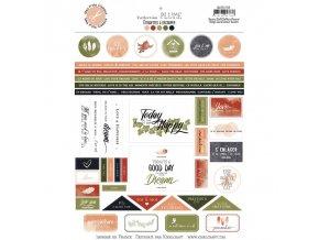 etiquettes a decouper collection plume