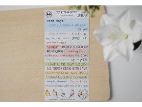 Papírové samolepky - SO ROMANTIC / Words