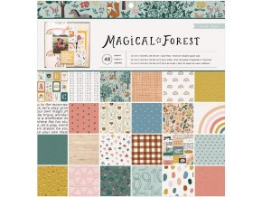 "Sada scrapbook papírů 12""X12""- MAGICAL FOREST"